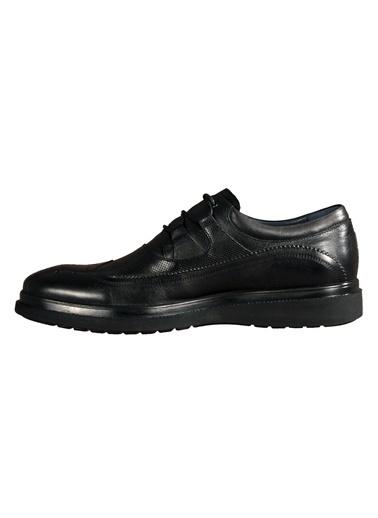 Luciano Bellini Hakiki Deri 107803 Siyah Erkek Günlük Ayakkabı Siyah